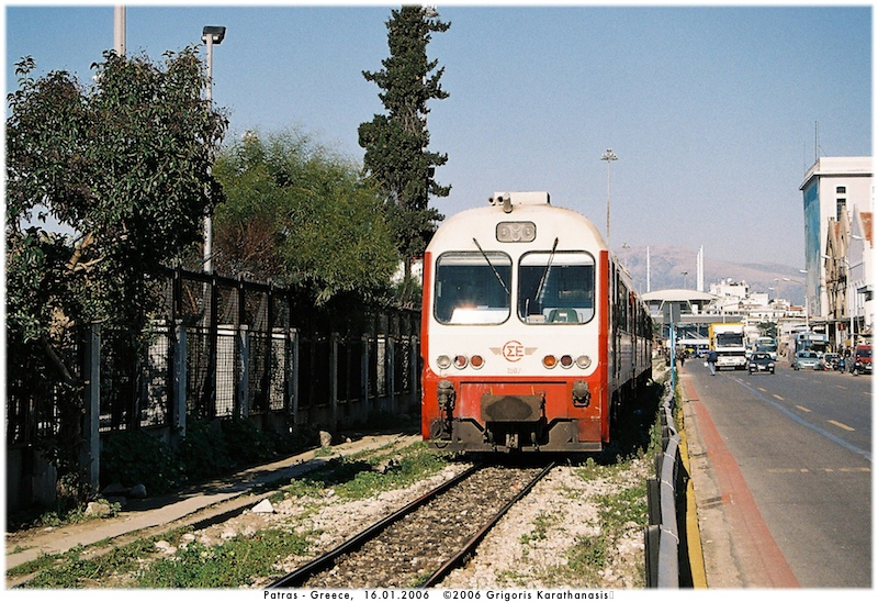 1507-5507-6507 IC23 ENTERING PATRAS CENTRAL STATION 16-1-2007